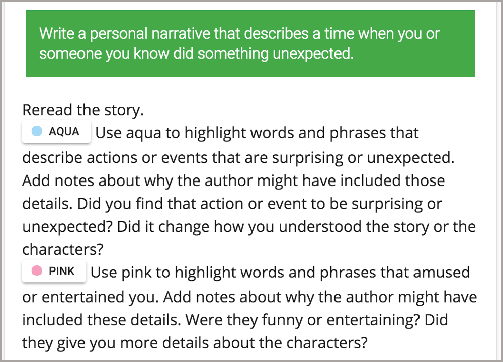 Highlighting-Annotating-Narrative